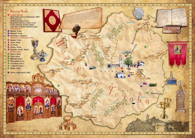 Мапа парохије